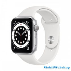Apple Watch Series 6 GPS 40mm Silver Aluminium Case with White Sport Band - Regular (MG283HC/A)