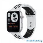 Apple Watch Nike Series 6 GPS + Cellular 44mm Silver Aluminium Case with Pure Platinum/Black Nike - Regular (M09W3HC/A)