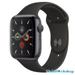 Apple Watch Series 5 44mm LTE - Silver Aluminium Case with White Sport Band