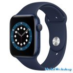 Apple Watch Series 6 GPS + Cellular 44mm Aluminium Blue Sport Band Deep Navy - Regular (MG2C3HC/A)