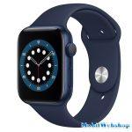 Apple Watch Series 6 GPS + Cellular 44mm Aluminium Blue Sport Band Deep Navy - Regular (MG2C3HC/A)