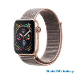 Apple Watch Series 4 GPS Gold Aluminium Case with Pink Sand Sport Loop MU6G2HC/A